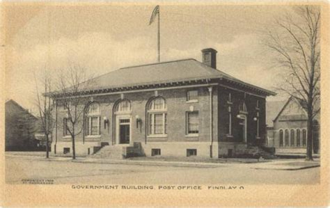 Findlay Post Office ohio american local history network alhn vintage ohio