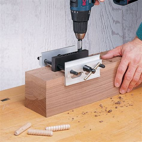centering doweling jig  thick timbers
