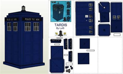 How To Make A Paper Tardis - papermau doctor who tardis and dalek paper models by