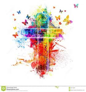 colorful crosses cross paint splatters stock photo image of bright