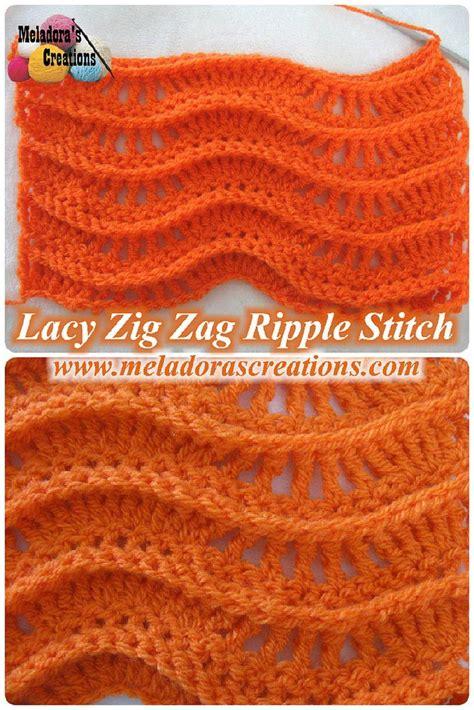 crochet patterns free zig zag lacy zig zag ripple stitch free crochet pattern video