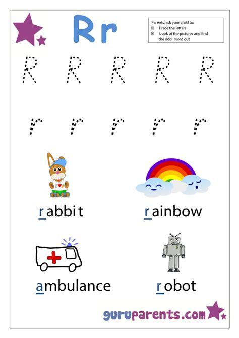 kindergarten activities with the letter r preschool worksheets guruparents