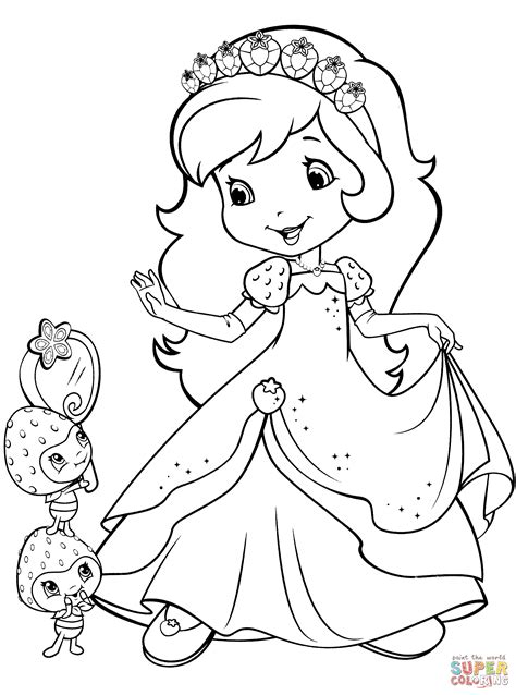 strawberry shortcake coloring pages games strawberry shortcake and berrykins coloring page free