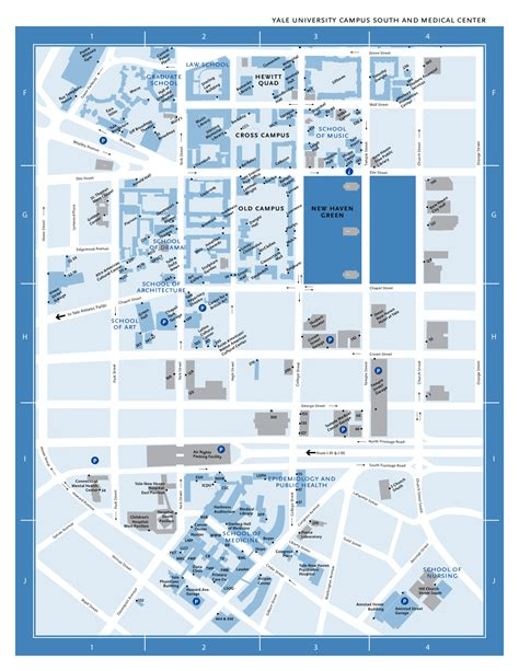 printable yale map yale university cus south and medical center map york