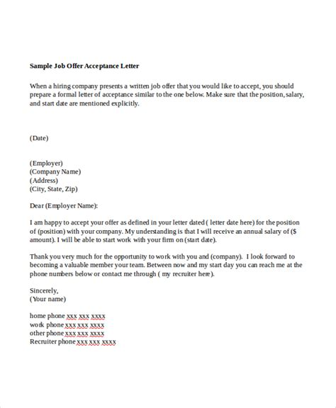 Offer Letter Pdf Sle Offer Letter 7 Exles In Word Pdf