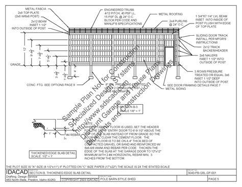 free pole barn plans blueprints shed plans 30 x 40 tuff shed