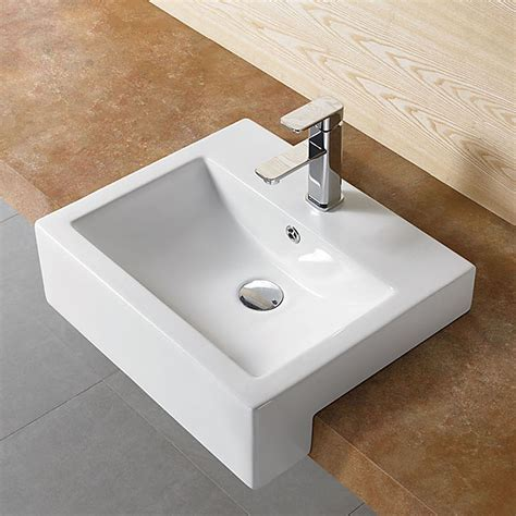 Semi Recessed Vanity Basins by Salonika Semi Recessed Basin Highgrove Bathrooms
