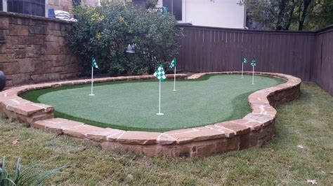 designing and installing a backyard putting green