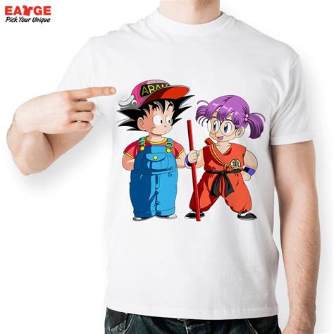 Tshirt Anime Boy Clothing goku switch cloth with arale t shirt anime