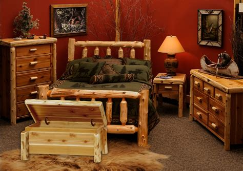 cedar traditional bedroom furniture set for rustic bedroom decor decolover net