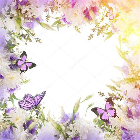 farfalle con fiori cornice con fiori e farfalle foto stock 169 seqoya 102588554