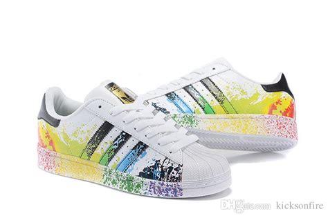 Sepatu Sneakers Rainbow adidas superstar rainbow paint splatter gmelectrobikes co uk