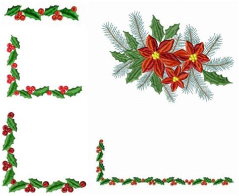 quot poinsettia table napkin quot machine embroidery design