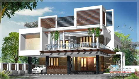 contemporary type house elevation kerala model home plans