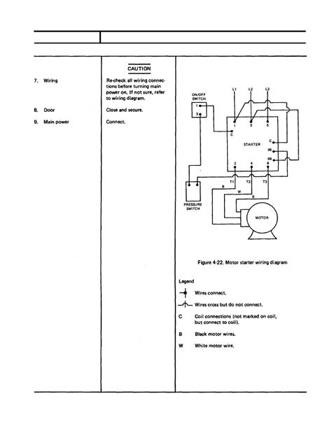 wiring diagram of starter motor 3 phase electric motor