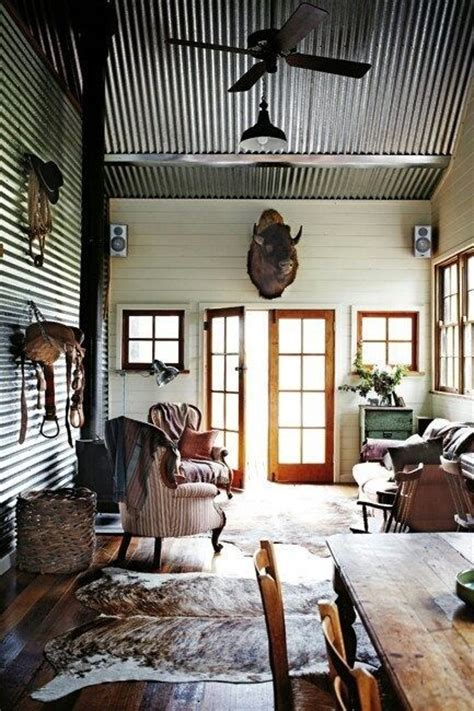 cabin cheery i like corrugated roofing used in make your house look like a cabin inside www lightsinthenorthernsky lights in the northern