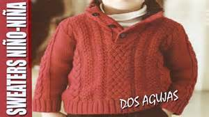 sweater para sweaters para ni 209 o ni 209 a en dos agujas youtube