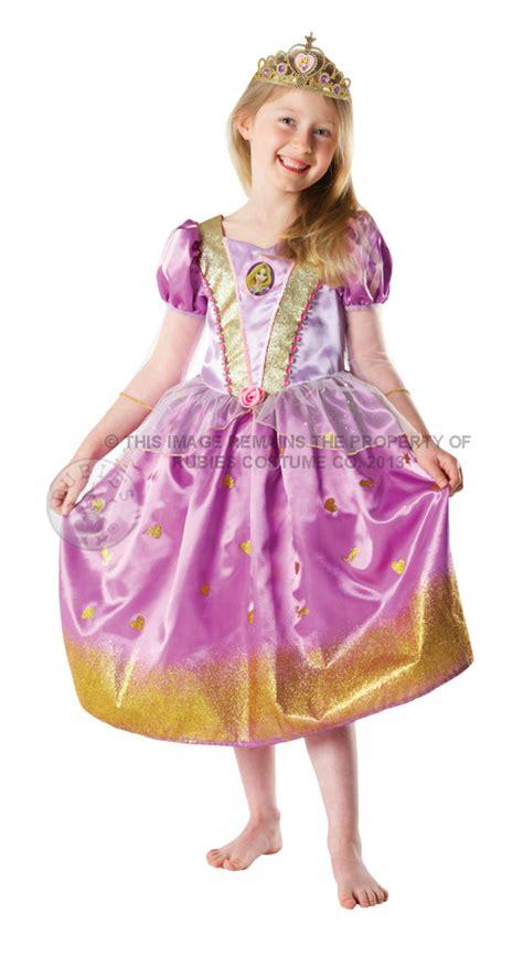 G 139 Dress Rapunzel s glitter rapunzel disney princess s world book day fancy dress costumes mega