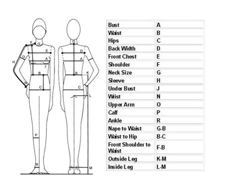 measurements template best 25 measurement chart ideas on waist