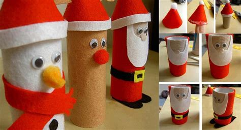 santa toilet paper roll craft diy easy toilet paper roll santa claus folding