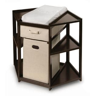 Badger Basket Espresso Diaper Corner Baby Changing Table Corner Changing Tables