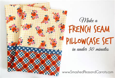 pillowcase pattern video french seam pillowcase set in under 30 minutes tutorial