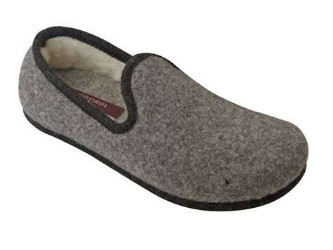 Handmade Slippers For - handmade tyrolean slippers heidi model grey with black