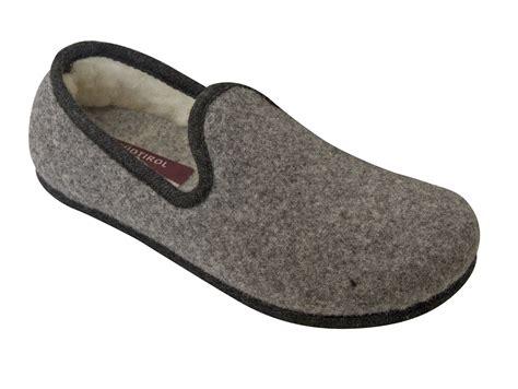 Slippers Handmade - handmade tyrolean slippers heidi model grey with black
