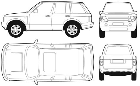 range rover vector car blueprints land rover range rover se blueprints
