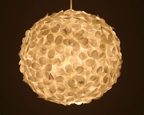 Paper Lantern Pendant Light with White Paper Flower Pendant Light The 3 R S
