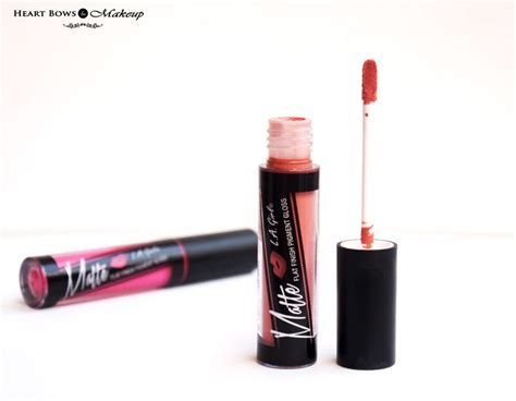 La Matte Finish Lipgloss Dreamy l a matte flat finish pigment gloss playful dreamy review swatches price bows