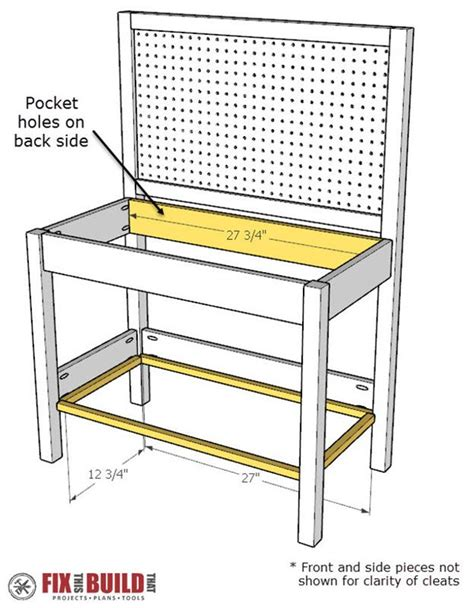 how to add a back to a bench diy kids workbench buildsomething com