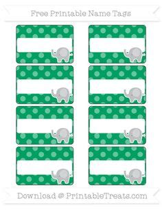 printable elephant name tags christmas december lunchbox mini cards name tags tags