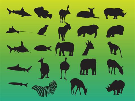 Cool Home Decorations by Animals Variety Silhouettes Pack