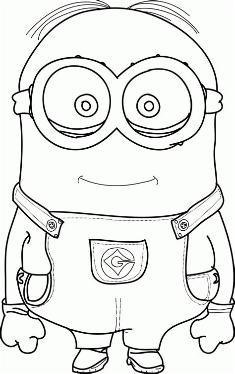 coloring pages minion stuart minion coloring pages stuart coloring home