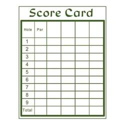 Blank Scorecard Template by Printable Golf Scorecard Template Fast Android Ru