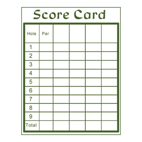 golf scorecard template free printable golf scorecard template fast android ru