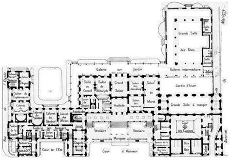 winter palace floor plan elysee palace plan floor plan great estates pinterest
