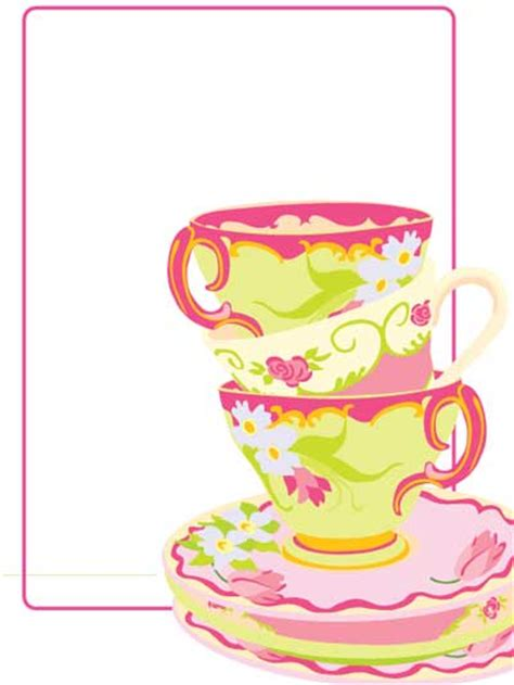 high birthday card template free blank tea printable free printables