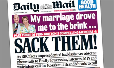 daily mail leads middle against ross brand and