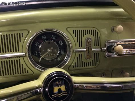 volkswagen beetle dash grill  dehne fuel gauge number
