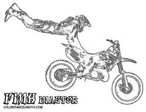 dirt bike coloring pages rider dirtbike print outs pocket bikes free pit