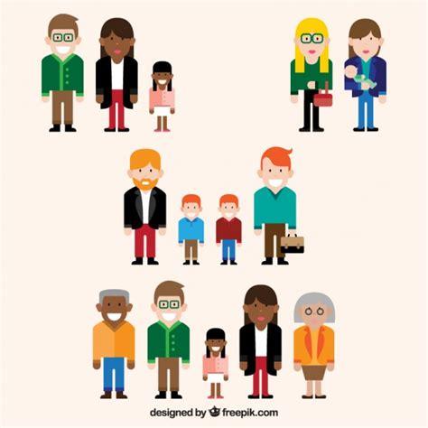 imagenes tipo vector set de diferentes tipos de familia descargar vectores