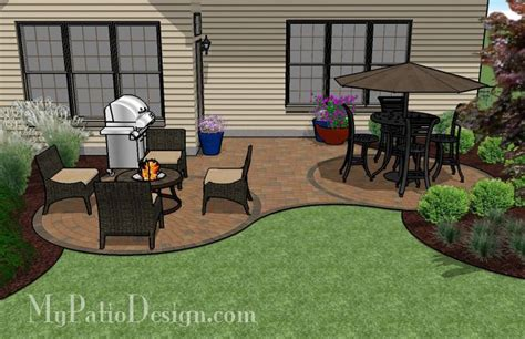 Patio L by Curved Patio For L Shaped Home Outdoor Fireplaces