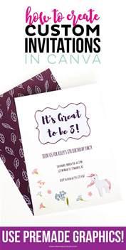 how to create custom invitations in canva printable crush