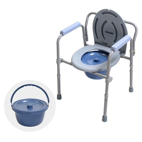 Used Commode Chair - portable bedside commode chair foldable potty stool toilet