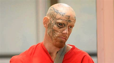 eyeball tattoo smh tattooed terror man charged with shooting at police