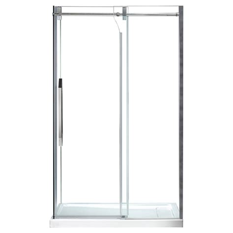 Antigua Sliding Shower Door 48 Quot Clear Chrome Rona Rona Glass Shower Doors