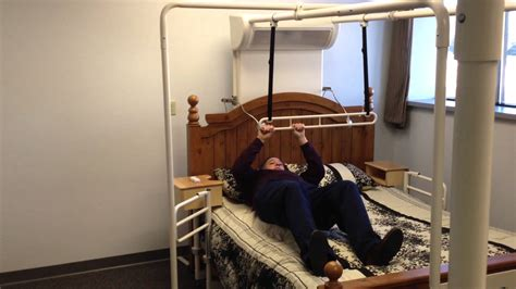 trapeze for bed friendly beds intro to trapeze bar elderly stroke ms