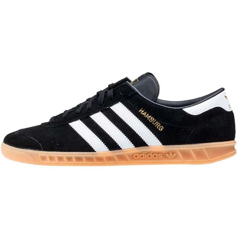 adidas hamburg black adidas hamburg mens trainers in black gum